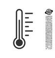 temperature level icon with men bonus vector image vector image