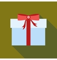 Thanksgiving gift box icon flat style vector image vector image