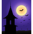 Tower in the moonlight Halloween vector image vector image