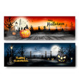 two halloween spooky banners vector image vector image