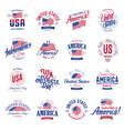 united states north america logos vector image