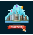 USA logo design template New York city or vector image