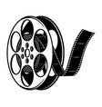 vintage film reel concept vector image vector image