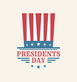 vintage text presidents day with american color vector image vector image