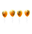 yellow balloons with percent sign symbol of vector image