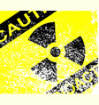 radioactive grunge sign vector image