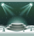 abstract podium mock up show product display vector image