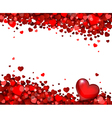 background of hearts vector image vector image