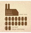 Beer infographics of Oktoberfest in Munich vector image