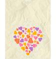 big valentine heart over beige background vector image vector image