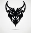 Black Evil Mask vector image vector image