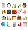 business and financial icons vector image vector image