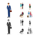 character and avatar icon vector image vector image