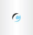 circle letter c symbol logo icon logotype vector image