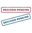 Decision Pending Rubber Stamps vector image vector image
