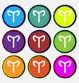 Decorative Zodiac Aries icon sign Nine multi vector image
