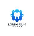 dental gear logo design vector image vector image