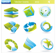 Eco symbols and icons vector image vector image