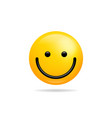 emoji smile icon symbol smiley face yellow vector image vector image