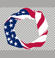 flag usa round vector image vector image
