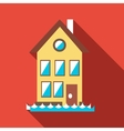Flood house icon flat style vector image vector image