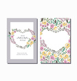 flower wreath invitation template with si vector image vector image