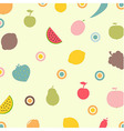 Fruits And Vegetables Abstract Background vector image vector image