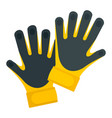 goal keeper gloves icon flat style vector image vector image