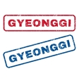 Gyeonggi Rubber Stamps vector image vector image