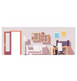 home office interior vector image vector image