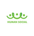 human social logo template vector image