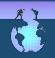 humanity and earth planet ecology vector image