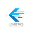 logistic company - concept business logo template vector image vector image