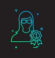 male avatar icon design vector image