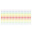 medic shape halftone spectrum pattern vector image vector image