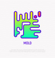 mold thin line icon modern vector image