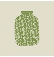 Money bank with dollars vector image vector image
