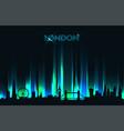 neon london skyline detailed silhouette vector image vector image
