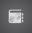 notepad sketch logo doodle icon vector image vector image