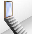 Open door with stairs vector image vector image