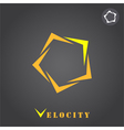 Pentagon segmented arrow vector image vector image