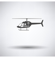 Police helicopter icon vector image