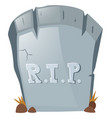 rest in peace on grave stone vector image