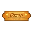 Retro restaurant label vector image vector image