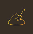 sand with shovel colored linear icon or vector image