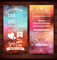 save the date for stationery or backgrounds vector image