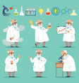 scientist or chemist at his work different vector image vector image