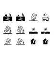 set earthquake icon in art design vector image vector image