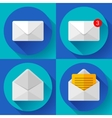 Set Mail Icon Open Envelope new letter message vector image