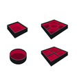 Set of Empty Bento Box on White Background vector image vector image